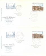 SCAR - SCIENTIFIC COMMITTEE OF ANTARCTIC RESEARCH - ENVELOPE REUNION XIV MENDOZA 11 DE OCTUBRE DE 1976 2 SOBRES DIFF LOT - Postzegels