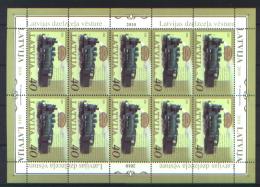 Lettonia 2010 Unif. 795 Minifoglio Di 10 **/MNH VF - Lettonie