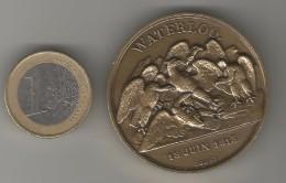 MEDAILLE EN BRONZE WATERLOO 18 JUIN 1815 Par E.ROGAT COLLECTION IMPERIALE MONNAIE DE PARIS - Royal / Of Nobility