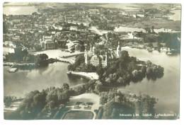 13274 Cpa  SCHWERIN  ; Schloss  , Luftaufnahme , Carte Photo ! - Schwerin