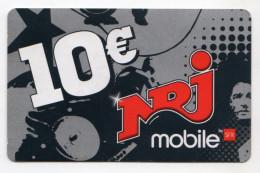 REUNION RECHARGE NRJ MOBILE 10€ Date 02/10 - Reunion