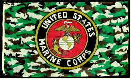 Flagge / Fahne  -  United States Marine Corps  -  Material : Polyester  -  Größe Ca. 150 X 90 Cm - Flaggen