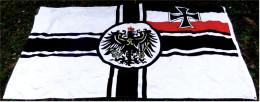 Große Flagge / Fahne  Königreich Preussen-Adler / Eisernes Kreuz  -  Material : Polyester  -  Größe Ca. 200 X 150 Cm - Andere Sammlungen
