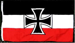 Flagge / Fahne Eisernes Kreuz  -  Material : Polyester  -  Größe Ca. 150 X 88 Cm - Andere Sammlungen