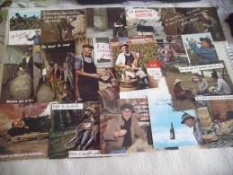 LOT DE 16 CARTES HUMORISTIQUES ..VINS ..ALCOOL..TONNEAUX .. - Postcards