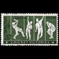 INDIA 1971 - Scott# 550 Cricket Victories Set Of 1 LH