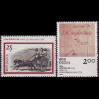 INDIA 1975 - Scott# 709-10 Phil.Exhib. Set Of 2 LH