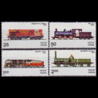 INDIA 1976 - Scott# 719-22 Locomotives Set Of 4 LH