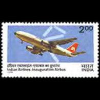 INDIA 1976 - Scott# 744 Airline-Airbus Set Of 1 LH