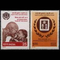INDIA 1979 - Scott# 820-1 Intl.Children Year Set Of 2 LH