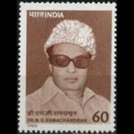 INDIA 1990 - Scott# 1308 Actor Ramachandran Set Of 1 LH