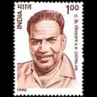 INDIA 1990 - Scott# 1329 Reformer Gopalan Set Of 1 LH
