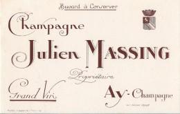 Champagne Julien Massing - Propriétaire AY-Champagne - Buvards, Protège-cahiers Illustrés