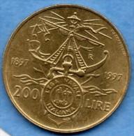 R7/  ITALIE ITALY  200 LIRE 1997 . KM#188 - 200 Lire