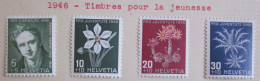 Suisse - YT 433 à 436 * - 1946 - Unused Stamps