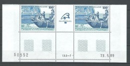 "Polynésie YT 336A Paire "" Révolution Française "" 1989 Neuf** BDF Daté - French Polynesia"