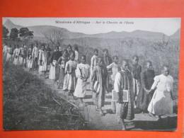 MISSION D AFRIQUE . SUR LE CHEMIN DE L ECOLE - Cartes Postales