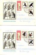 RDA. N°846-51 De 1965 Sur 2 Enveloppes 1er Jour Ayant Circulé. Aigle/Vautour. - Adler & Greifvögel