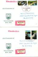 RDA. N°1096-9 De 1968 Sur 2 Enveloppes 1er Jour Ayant Circulé. Barrages.