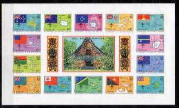 Tuvalu Flags 1986 MNH Block IMPERFORTED, Unissued And Unlisted !!! Rare (tu37) - Tuvalu