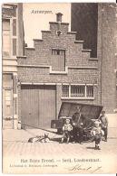 Antwerpen Het Beste Brood  HONDENKAR Met Broodventer Inrij Londenstraat Ca 1905 R 6/040 - Antwerpen