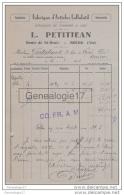 01 1084 BOURG EN BRESSE AIN 1934 Fabrique Articles Celluloid L. PETITJEAN Route De Saint Denis à GOUTALAND - France