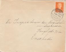 Envelop 8 Aug 1951 Oldenzaal Station 1 (typerader Langebalk) - Poststempels/ Marcofilie