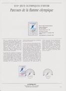 FDC FRANCE 1991  JEUX OLYMPIQUES D'ALBERTVILLE 1992  PARCOURS DE LA FLAMME ( Document Philatélique 30 X 21 Cm )