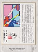 FDC FRANCE 1991  JEUX OLYMPIQUES D'ALBERTVILLE 1992  LE CURLING PRALOGNAN ( Document Philatélique 30 X 21 Cm )