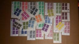Lot De Timbre  Neuf ** Gomme D'Origine, Valeur Faciale: 113.34 €, Bloc De 4/6/8 Avec Coins Datés  TB - 2000-2009