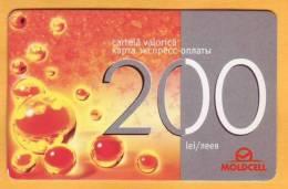 Moldova Moldavie Moldau Used 200 Lei  Telephone Card