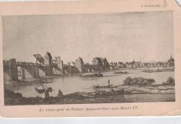 POISSY -78- LE VIEUX PONT DE POISSY - Poissy