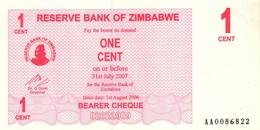 ZIMBABWE 1 CENT 2006 P-33 UNC  [ZW124a] - Simbabwe