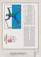 FDC FRANCE 1991  JEUX OLYMPIQUES D'ALBERTVILLE 1992  SKI ARTISTIQUE  TIGNES ( Document Philatélique 30 X 21 Cm )