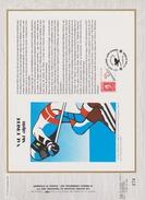FDC FRANCE 1991  JEUX OLYMPIQUES D'ALBERTVILLE 1992  SKI ALPIN  VAL D'ISERE ( Document Philatélique 30 X 21 Cm )