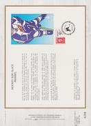 FDC FRANCE 1991  JEUX OLYMPIQUES D'ALBERTVILLE 1992  HOCKEY SUR GLACE  MERIBEL ( Document Philatélique 30 X 21 Cm )
