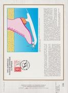 FDC FRANCE 1990  JEUX OLYMPIQUES D'ALBERTVILLE 1992  PATINAGE ARTISTIQUE  ALBERTVIL ( Document Philatélique 30 X 21 Cm )