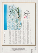 FDC FRANCE 1990  JEUX OLYMPIQUES D'ALBERTVILLE 1992    ALBERTVILLE  ( Document Philatélique 30 X 21 Cm )