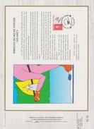 FDC FRANCE 1990  JEUX OLYMPIQUES D'ALBERTVILLE 1992  SKI DE VITESSE  LES ARCS  ( Document Philatélique 30 X 21 Cm )