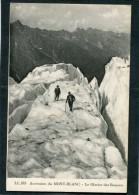 CPA - Ascension Du MONT BLANC - Le Glacier Des Bossons, Animé - Chamonix-Mont-Blanc