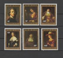 Niger 1981 Paintings Rembrandt Set Of 6 MNH