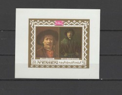 Yemen Kingdom 1969 Paintings Rembrandt S/s MNH