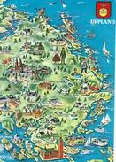 Map Of Uppland  Sweden  # 05157 - Maps