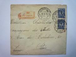 LETTRE REC  Au Départ De  PETROGRAD  à Destination De  PARIS  1915  TB Cachet De CIRE  XXX