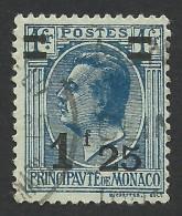 Monaco, 1.25 F. On 1 F. 1926, Sc # 98, Mi # 107, Used. - Monaco