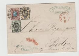 Pol198 / POLEN - Warschau 1869, 3 Farben Frankatur, Franco Berlin Und Aus Russland , Franco In Blau. SELTEN - ....-1919 Übergangsregierung