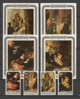 Niue 1981 Paintings Rembrandt Set Of 4 + 4 S/s MNH