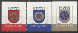 LV 2016 ARMS, LATVIA, 1 X 3v, MNH - Briefmarken