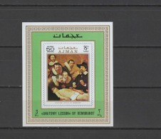 Ajman 1971 Paintings Rembrandt S/s Imperf. MNH