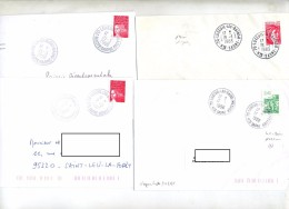 Lot 4 Lettre Cachet Luxeuil - Marcophilie (Lettres)